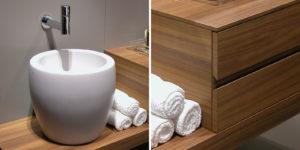 Bagno su misura in legno Mendrisio