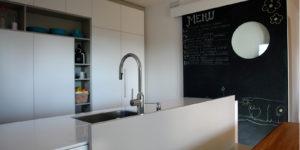 cucina moderna parete lavagna